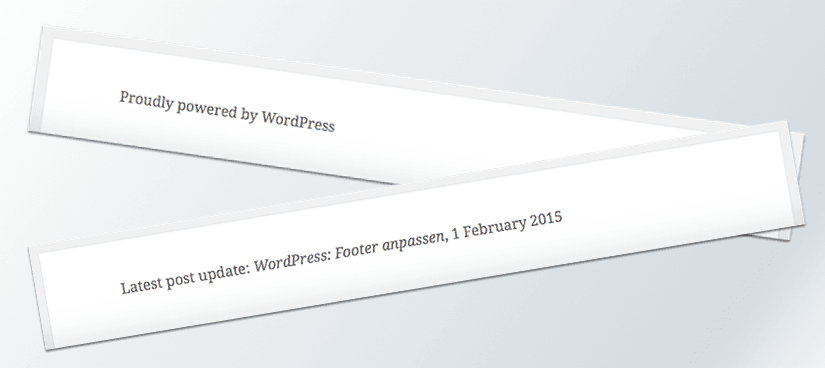 WordPress: Customize Footer