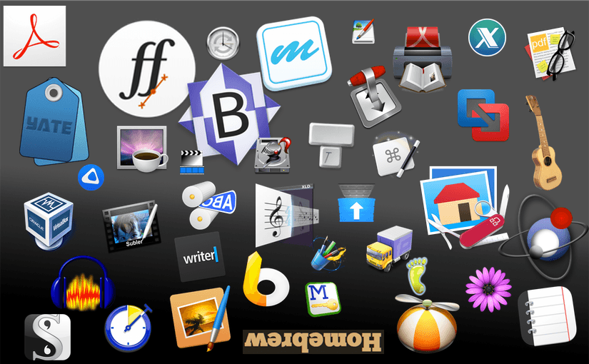 Icon collection of essential Mac apps