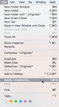 OS X El Capitan: Delete Immediately